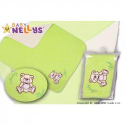 Deka / dečka froté / velúr - Medvedík Teddy Bear - zelená