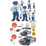 Nálepky, dekorace na stěnu 70x100 cm - Policie
