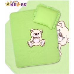 2-dielna súprava do kočíka jersey Medvedík Teddy Bear - zelená