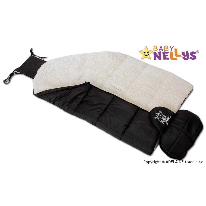 Fusák 4 v1 VLNA Baby Nellys ® - černý