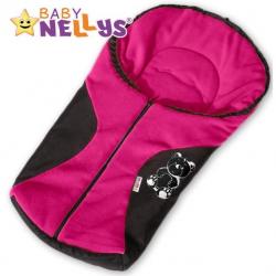 Fusak nielen do autosedačky Baby Nellys ® POLAR - amarantový medvedík