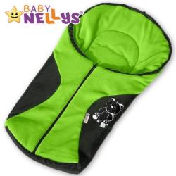 Fusak nielen do autosedačky Baby Nellys ® POLAR - zelený medvedík