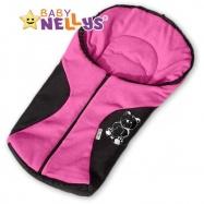 Fusak nielen do autosedačky Baby Nellys ® POLAR - sv. ružový medvedík