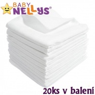 Kvalitné bavlnené plienky Baby Nellys - TETRA LUX 80x80cm, 20ks v bal.