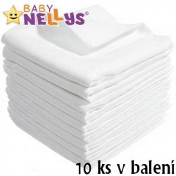 Kvalitné bavlnené plienky Baby Nellys - TETRA LUX 60x80cm, 10 ks v bal.