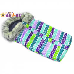 Fusak nielen do autosedačky Baby Nellys ® Eskymo s kožušinkou LUX - 06