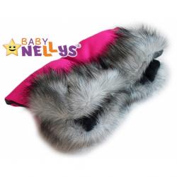 Rukávnik ku kočíku s kožušinkou Baby Nellys ®LUX Eskymo - 07