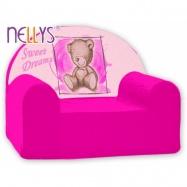 Dětské křeslo Nellys  - Sweet Dreams by Teddy - růžová