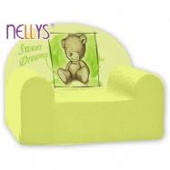 Detské kreslo Nellys - Sweet Dreams by Teddy - zelené