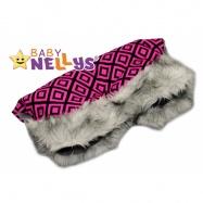 Rukávnik ku kočíku s kožušinkou Baby Nellys ® flees