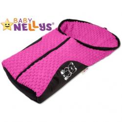 Fusak nielen do autosedačky Baby Nellys ® Mink - ružový, amarant