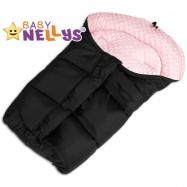Fusak nielen do autosedačky Baby Nellys ® Mink - sv. ružový