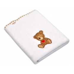 Dečka colar Baby Nellys ® Sweet dreams by TEDDY 80x100cm - biela