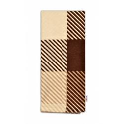Flanelová plienka, 70 x 80 cm - Hnedá s prúžkami