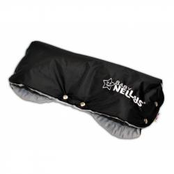 Rukávnik ku kočíku Baby Nellys ® Minky - sv. sivá / čierny