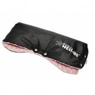 Rukávnik ku kočíku Baby Nellys ® Minky - sv. ružová / čierny