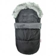 Fusak DELUX Baby Nellys ® s kožušinkou 105x50cm - čierny