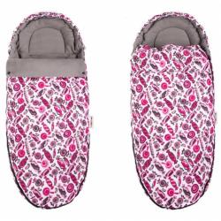 Fusak MAXI Baby Nellys ® 105x50cm - sladkosti ružové