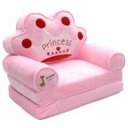 Plyšové křesílko rozkládací  - růžové 3v1  - Princess