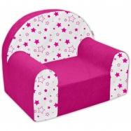 Detské kresielko / pohovečka Nellys ® - Magic stars - ružové