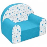 Detské kresielko / pohovečka Nellys ® - Magic stars - modré