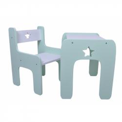 Sada nábytku Star - Stůl + židle - máta s bílou