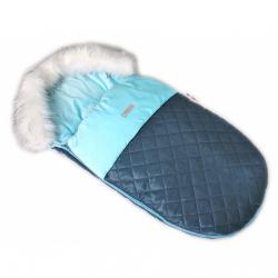 Fusak, spacáček 105 x 55 Velvet exkluziv prošívaný - modrý