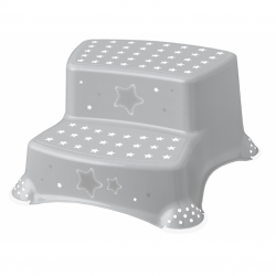 Stolička - schodíky s protišmykovou úpravou - šedé