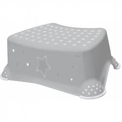 Stolička, schodík s protišmykovou úpravou - šedý
