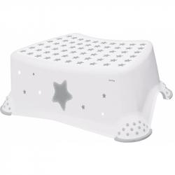 Stolička, schodík s protišmykovou úpravou - biela
