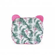 Oboustanný polštářek s oušky 30 x 35 cm - Kapradí, růžová