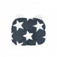 Oboustanný polštářek s oušky, 30 x 35 cm - Hvězdy bílá