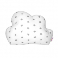 Mráček - dekorační polštářek - Mini hvězdičky šedé v bílé