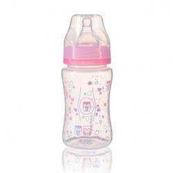 Antikoliková fľaša so širokým hrdlom - ružová