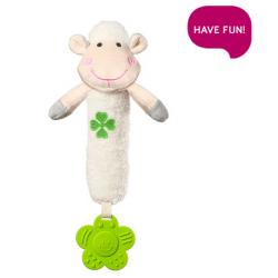 BabyOno Plyšová hračka s pískátkem a kousátkem Sweet Lambie - bílá