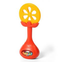 Edukačná hryzátko s hrkálkou - pomaranč
