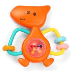 BabyOno Detské hrkálka Dino Park - oranžové