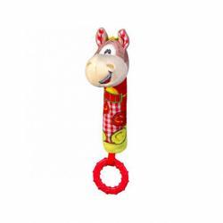 Plyšová pískacia hračka s hryzátkom Baby Ono koník