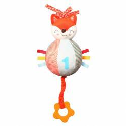 Plyšová hračka s hracím strojčekom a hryzátkom Baby Fox Vincent
