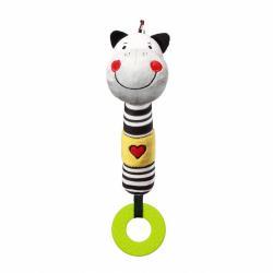 Plyšová pískacia hračka s hryzátkom Baby Ono zebra Zack