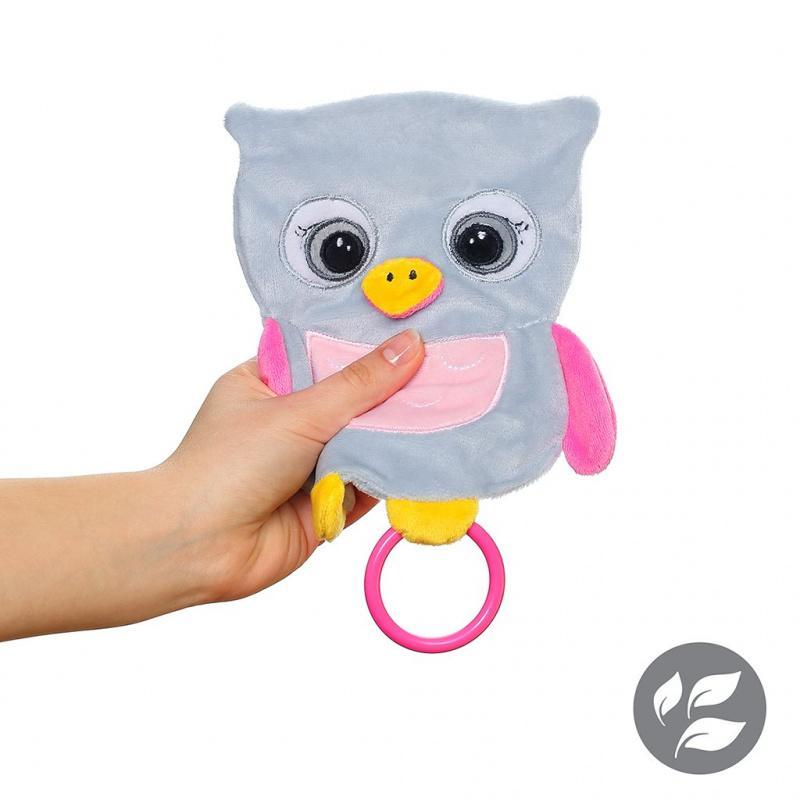 Babyono Przytulanka dla niemowląt Flat Owl Celeste Flat Fellows