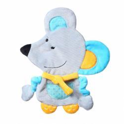 Babyono Przytulanka dla niemowląt Flat Mouse Kirstin Flat Fellows