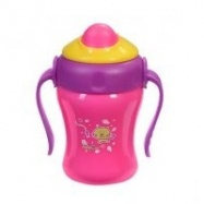 Hrníček růžový s brčkem Baby Ono 220ml