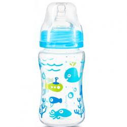 Antikoliková fľaštička so širokým hrdlom Baby Ono - modrá
