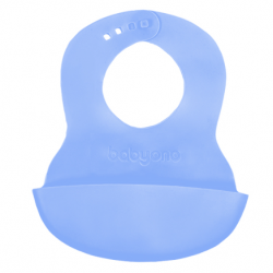 Silikonový bryndák - modrý