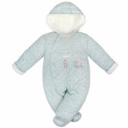 Zimní kojenecká kombinéza Baby Service Animals světle modrá