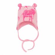 Dětská čepička s oušky Baby Service Sloni růžová