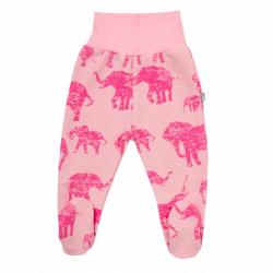 Zimní kojenecké polodupačky Baby Service Sloni růžové