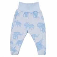 Zimné dojčenskej polodupačky Baby Service Slony modré