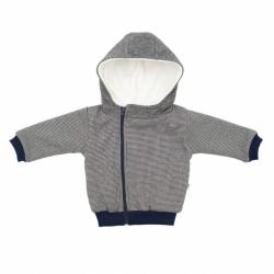 Zimné dojčenský kabátik s kapucňou Baby Service Retro